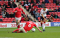 Marcus Tavernier of Middlesbrough shot blocked by Jason Pearce of Charlton Athletic during Charlton Athletic vs Middlesbrough, Sky Bet EFL Championship Football at The Valley on 7th March 2020
