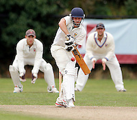 Andrew Wilson bats for Shepherds Bush during the Middlesex Cricket League Division Two game between Shepherds Bush and Hornsey at Bromyard Ave, London on Sat Aug 1, 2015