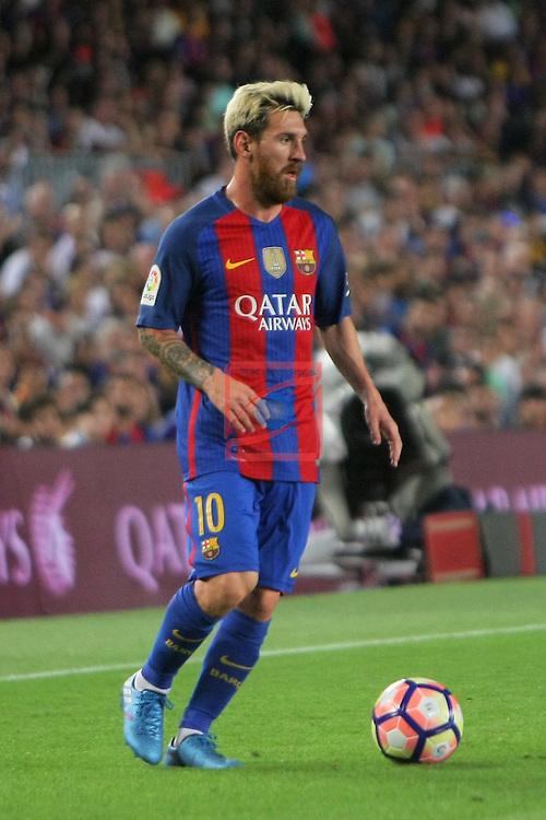 League Santander 2016/2017. Game: 3.<br /> FC Barcelona vs Deportivo Alaves: 1-2.<br /> Lionel Messi.