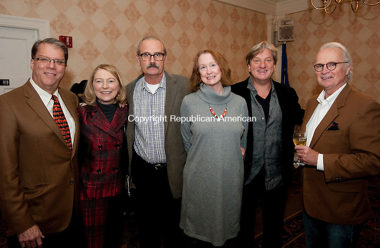 TORRINGTON,  CT-102616JS22- Ken Blazier and Cara Houlihan Blazier of Litchfield; Gary Sink and Julith Sink of Litchfield; Andrew Becker of Thomaston and Tom Curran of Goshen, at the annual A Tasteful Event to benefit FISH of Northwestern Connecticut held at the Torrington Elks Lodge. <br /> Jim Shannon Republican American