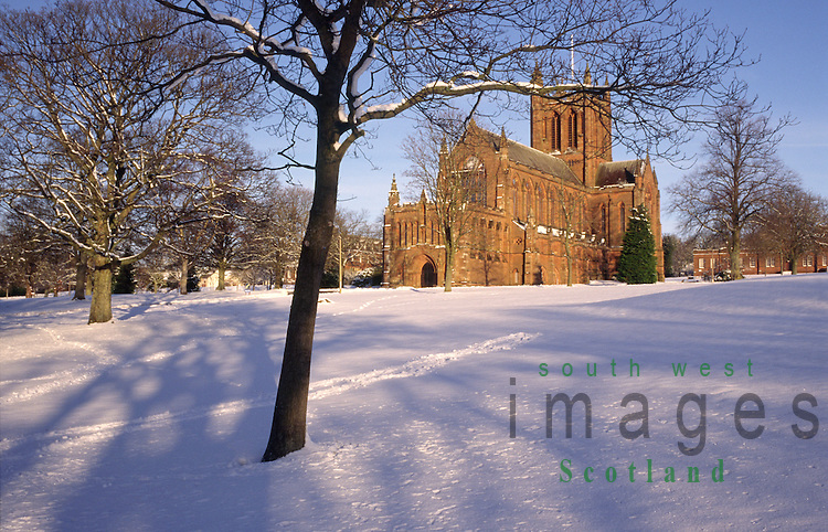 Crichton Church in the winter snow Dumfries Scotland UK