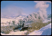 #484 K-36 in cut in snow - coming back to Chama? Second engine seen in background.<br /> D&amp;RGW