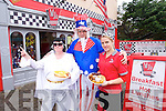 ALL AMERICAN: Celebrating America's Independence Day at MJ's Diner, Tralee, on Friday, 4th of July, were Chris Tansley (Elvis), Paul Barker (Uncle Sam) and Santa Liberte.