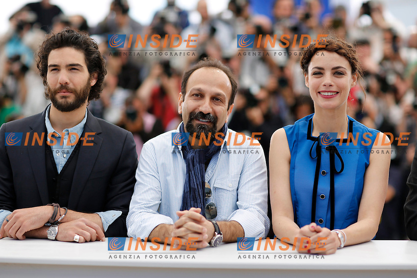 Berenice Bejo ; Asghar Farhadi  ; Tahar Rahim  .Cannes 17/5/2013 .Festival del Cinema di Cannes .Foto Panoramic / Insidefoto .ITALY ONLY