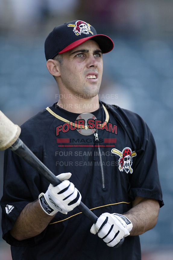 Jack Wilson of the Pittsburgh Pirates before a 2002 MLB season game against the Los Angeles Angels at Angel Stadium, in Anaheim, California. (Larry Goren/Four Seam Images)