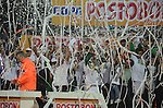 MEDELLÍN – COLOMBIA _ 17-11-2013 /  En juego de vuelta de la gran final de la Copa Colombia, Atlético Nacional venció 1 – 0 a Millonarios y se coronó campeón del certamen que reúne los equipos de primera y segunda división del Fútbol Profesional Colombiano 2013. El juego se llevó a cabo en el estadio Atanasio Girardot de Medellín./ Ceremonia de premiación.