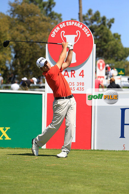 Pol Bech (ESP) on the 1st during Thursday's Round 1 of The Open De Espana at The PGA Catalunya Resort. 15th May 2014.<br /> Picture:  Thos Caffrey / www.golffile.ie