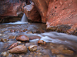 A waterfall along Shinumo Creek in the Grand Canyon, Grand Canyon National Park, Arizona, USA