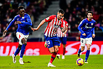 Victor Machin, Vitolo, of Atletico de Madrid (C) is followed by Inaki Williams Arthuer of Athletic de Bilbao (L) during the La Liga 2018-19 match between Atletico de Madrid and Athletic de Bilbao at Wanda Metropolitano, on November 10 2018 in Madrid, Spain. Photo by Diego Gouto / Power Sport Images