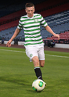 Callum McGregor in the Dunfermline Athletic v Celtic Scottish Football Association Youth Cup Final match played at Hampden Park, Glasgow on 1.5.13. .