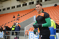 Blackpool's Myles Boney during the pre-match warm-up <br /> <br /> Photographer Kevin Barnes/CameraSport<br /> <br /> The EFL Sky Bet League One - Blackpool v Gillingham - Saturday 4th May 2019 - Bloomfield Road - Blackpool<br /> <br /> World Copyright © 2019 CameraSport. All rights reserved. 43 Linden Ave. Countesthorpe. Leicester. England. LE8 5PG - Tel: +44 (0) 116 277 4147 - admin@camerasport.com - www.camerasport.com