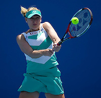 Elena Baltacha (GBR) against Pauline Parmentier (FRA) in the First Round of the Ladies Singles. Baltacha beat Parmentier 6-4 3-6 7-5..International Tennis - Australian Open Tennis - Mon 18 Jan 2010 - Melbourne Park - Melbourne - Australia ..© Frey - AMN Images, 1st Floor, Barry House, 20-22 Worple Road, London, SW19 4DH.Tel - +44 20 8947 0100.mfrey@advantagemedianet.com
