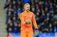 Kasper Schmeichel of Leicester City during the Premier League match between Leicester City and Manchester United at King Power Stadium on February 3rd 2019 in Leicester, England. (Photo by Leila Coker/phcimages.com)<br /> Foto PHC Images / Insidefoto <br /> ITALY ONLY