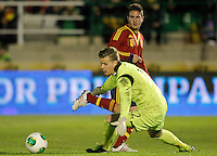 Spain's Koke and Norway's Nyland (d) during international sub21 match.March 21,2013. (ALTERPHOTOS/Acero) /NortePhoto