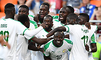 (180624) -- YEKATERINBURG, June 24, 2018 -- Sadio Mane (bottom) of Senegal celebrates his scoring during the 2018 FIFA World Cup WM Weltmeisterschaft Fussball Group H match between Japan and Senegal in Yekaterinburg, Russia, June 24, 2018. ) (SP)RUSSIA-YEKATERINBURG-2018 WORLD CUP-GROUP H-JAPAN VS SENEGAL LiuxDawei PUBLICATIONxNOTxINxCHN  <br /> YEKATERINBURG 24-06-2018 Football FIFA World Cup Russia  2018 <br /> Japan - Senegal / Giappone - Senegal<br /> Foto Xinhua/Imago/Insidefoto