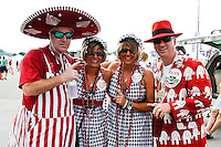 January 7, 2013: Alabama fans tailgate before the start of the Discover BCS National Championship game between the Alabama Crimson Tide and the Notre Dame Fighting Irish at Sun Life Stadium in Miami Gardens, Fl