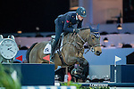 Lorenzo de Luca of Italy riding Unestar de Cerisy competes during the EEM Trophy, part of the Longines Masters of Hong Kong on 10 February 2017 at the Asia World Expo in Hong Kong, China. Photo by Juan Serrano / Power Sport Images
