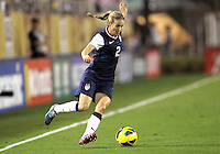 BOCA RATON, FL - DECEMBER 15, 2012: Heather Mills (2) of the USA WNT against China WNT during an international friendly match at FAU Stadium, in Boca Raton, Florida, on Saturday, December 15, 2012. USA won 4-1.
