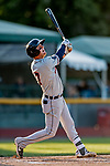 29 August 2019: Connecticut Tigers infielder Andrew Navigato in action against the Vermont Lake Monsters at Centennial Field in Burlington, Vermont. The Tigers defeated the Lake Monsters 6-2 in the first game of their NY Penn League double-header.  Mandatory Credit: Ed Wolfstein Photo *** RAW (NEF) Image File Available ***