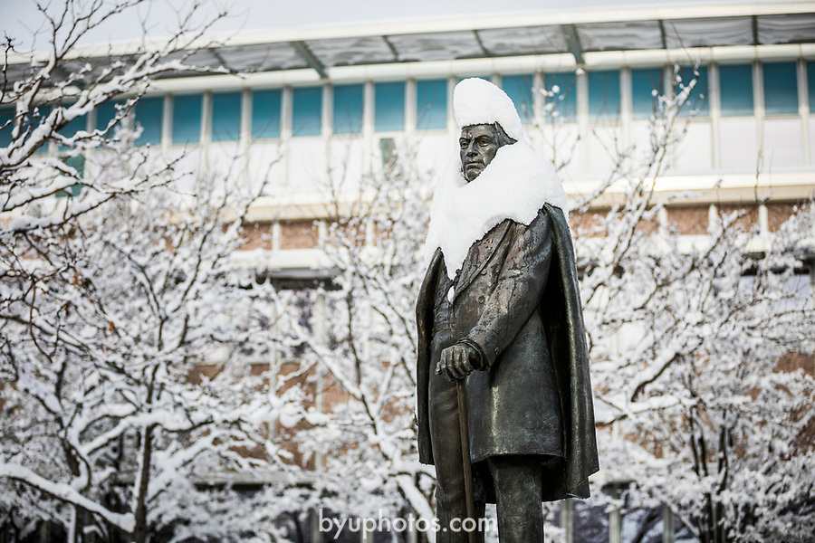 _RE_8151<br /> <br /> 1701-01 GCS Snow<br /> <br /> December 9, 2016<br /> <br /> Photography by Nate Edwards/BYU<br /> <br /> © BYU PHOTO 2016<br /> All Rights Reserved<br /> photo@byu.edu  (801)422-7322