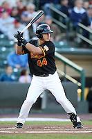 Rochester Red Wings Catcher Wilson Ramos during a game vs. the Louisville Bats Friday, May 14, 2010 at Frontier Field in Rochester, New York.   Rochester defeated Louisville by the score of 13-4.  Photo By Mike Janes/Four Seam Images