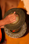 Novice Monk Playing Cymbals, Luang Prabang, Laos