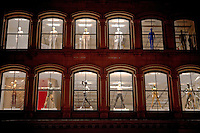 Mannequins in the window of a retail store in the SoHo neighborhood of Lower Manhattan, New York City.
