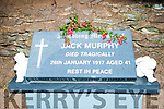 The Jack Murphy roadside memorial headstone.