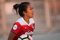 Boyds, MD. - Saturday, June 24 2017:  Caprice Dydasco during a regular season National Women's Soccer League (NWSL) match between the Washington Spirit and the Portland Thorns FC at Maureen Hendricks Field, Maryland SoccerPlex.<br />  The Washington Spirit defeated the Portland Thorns FC 1-0.
