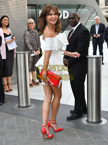Lizzie Cundy attends Sony Music imprint Syco's summer party at Victoria and Albert Museum, London, UK, 4th July 2019.<br />  CAP/JOR<br /> ©JOR/Capital Pictures