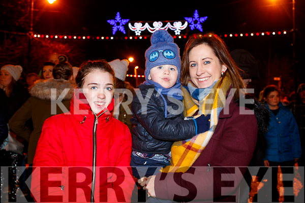 Emily, Charlie Elaine Fitzgerald at the Fireworks in Tralee on New Years Eve.