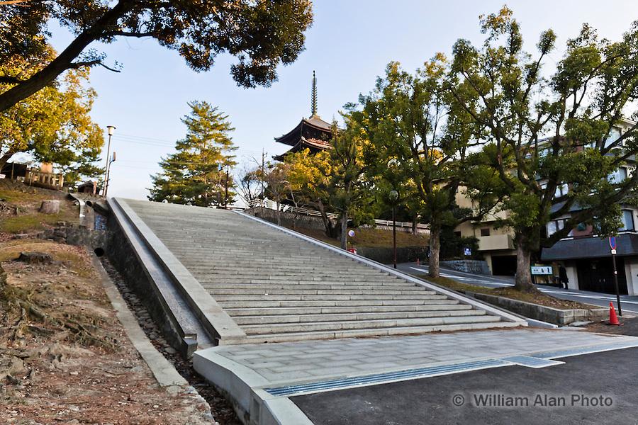 Gojyu-no-tou (meaning five-story pagoda), a part of Koufuku-ji temple Nara Japan January 2010