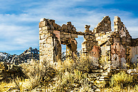 Rock House at the City of Rocks.  The Circle Creek Rock House at the derelict homestead of William E. Tracy at the  City of Rocks National Reserve in Southern Idaho.