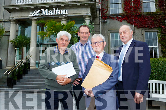 Terence McGough, Kenneth O'Reilly, Cllr Donal O'Grady and Jimmy White at the An Bord Pleanala hearing on a new Killarney graveyard on Tuesday