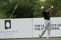 Gaganjeet Bhullar (IND) on the 11th tee during Round 2 of the Irish Open at Fota Island on Friday 20th June 2014.<br /> Picture:  Thos Caffrey / www.golffile.ie