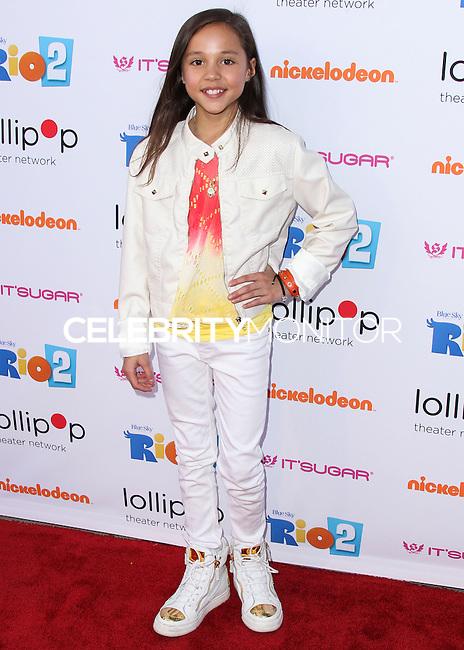 """BURBANK, CA, USA - APRIL 26: Breanna Yde at the Lollipop Theater Network's Night Under The Stars Screening Of Twentieth Century Fox's """"Rio 2"""" Hosted by Anne Hathaway held at Nickelodeon Animation Studios on April 26, 2014 in Burbank, California, United States. (Photo by Xavier Collin/Celebrity Monitor)"""