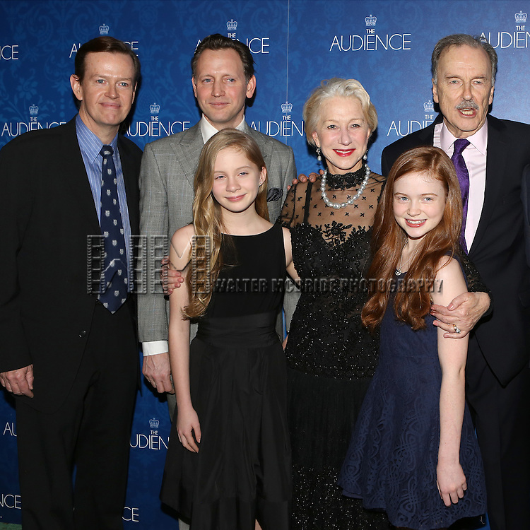 Dylan Baker, Rufus Wright, Elizabeth Teeter, Helen Mirren, Sadie Sink and Michael Elwyn attends the opening night after party for the Broadway Opening of 'The Audience' at Urbo NYC on March 8, 2015 in New York City.