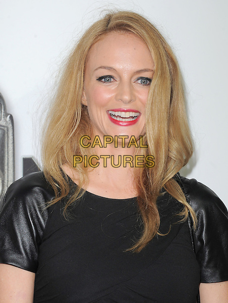 "Heather Graham.""The Book of Mormon"" Hollywood Opening night Held At The Pantages theatre, Hollywood, California, USA..September 12th, 2012.headshot portrait black leather smiling .CAP/DVS.©DVS/Capital Pictures."
