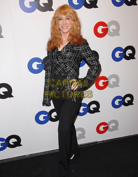 KATHY GRIFFIN.The 2007 GQ Men of the Year Celebration at Chateau Marmont in West Hollywood, California, USA..December 5th, 2007.full length black trousers hand on hip tweed top  .CAP/DVS.©Debbie VanStory/Capital Pictures