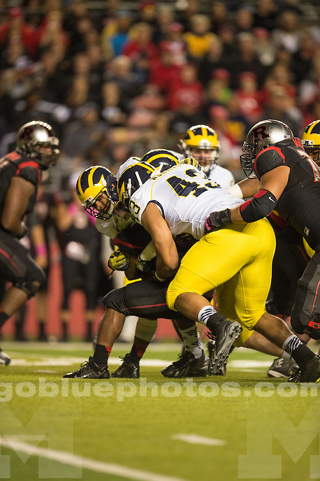 The University of Michigan football team loses to Rutgers University, 26-24, at Highpoint Solutions Stadium in Piscataway, NJ, on Oct. 4, 2014.