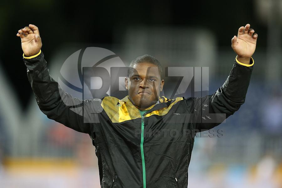 TORONTO, CANADÁ, 21.07.2015 - PAN-ATLETISMO - Jamaicano O'Dayne Richards medalha de ouro lançamento de bola no atletismo  nos Jogos Panamericanos na cidade de Toronto no Canadá, nesta terça-feira, 21 (Foto: Vanessa Carvalho/Brazil Photo Press)