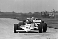 Bobby Rahal drives in the 1982 IndyCar race in Cleveland, Ohio, the first victory of his IndyCar career.