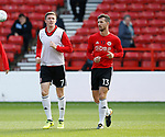 John Lundstram of Sheffield Utd  and Jake Wright of Sheffield Utd  warm up during the Championship match at the City Ground Stadium, Nottingham. Picture date 30th September 2017. Picture credit should read: Simon Bellis/Sportimage