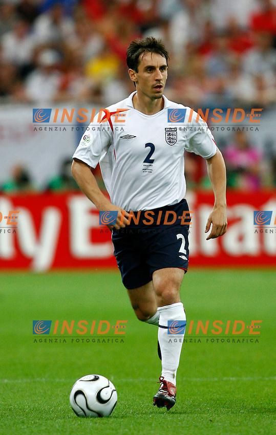 Gelsenkirchen 1/7/2006 World Cup 2006 Quarti di finale Inghilterra Portogallo 1-3 a.p..Photo Andrea Staccioli Insidefoto.Gary Neville Inghilterra