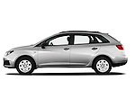 Driver side profile view of 2010 Seat Ibiza ST 5 Door Wagon Stock Photo