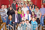 Congratulations - Hiltje Nawijn & Gerard Leen from Ardfert seated centre along with godparents Donal and Louise Leen having a wonderful time with family and friends at the Christening party held for their son Cian in McElligot's Bar Ardfert following the ceremony in St Brendan's Ardfert on Sunday..................................................................................................................................................................................................................................... ............