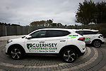 Guernsey 0 Corinthian-Casuals 1, 10/09/2017. Footes Lane, Isthmian League Division One. Sponsored cars on display outside the ground as Guernsey take on Corinthian-Casuals in a Isthmian League Division One South match at Footes Lane. Formed in 2011, Guernsey FC are a community club located in St. Peter Port on the island of Guernsey and were promoted to the Isthmian League Division One South in 2013. The visitors from Kingston upon Thames won the fixture by 1-0, watched by a crowd of 614 spectators. Photo by Colin McPherson.