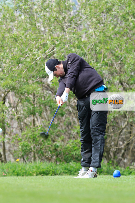 Andrew Keenan (Dundalk) on the 15th tee during Day 1 of The Munster Youths' Amateur Open Championship in Dungarvan Golf Club on Wednesday 23nd April 2014.<br /> Picture:  Thos Caffrey / www.golffile.ie