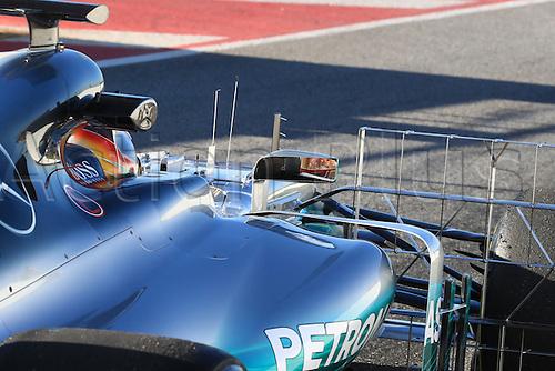March 7th 2017, Circuit de Barcelona-Catalunya, Barcelona, Spain, Formual 1 winter testing session 2 day 1;  Lewis Hamilton  - Mercedes AMG Petronas F1 W08 EQ Energy+