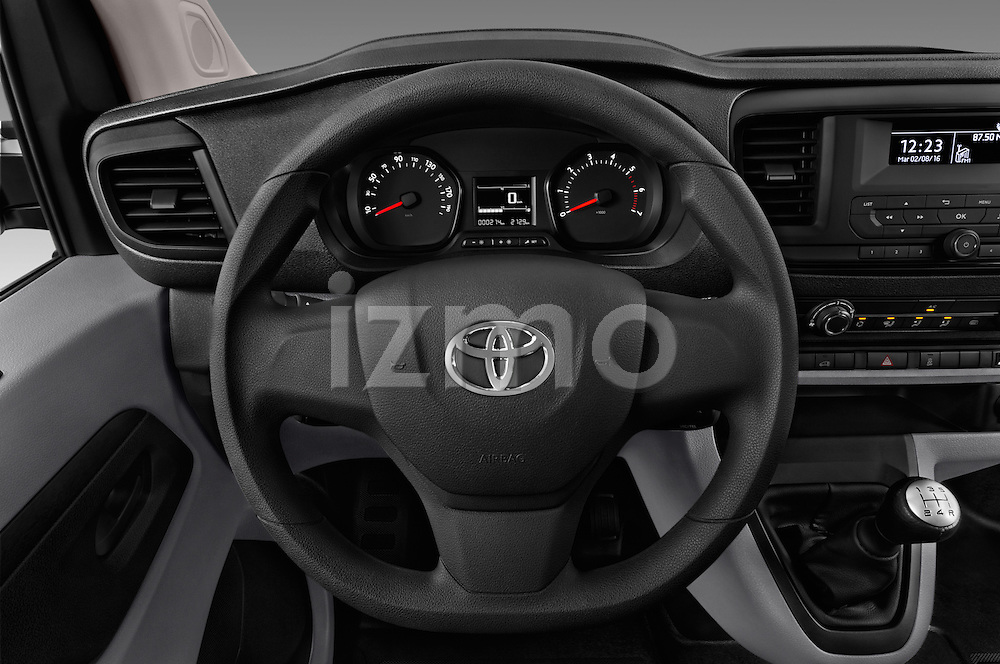 Car pictures of steering wheel view of a 2016 Toyota Proace Comfort 4 Door Cargo Van Steering Wheel